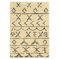 Linon Home Moroccan Atlas 5' x 7' Area Rug in Ivory