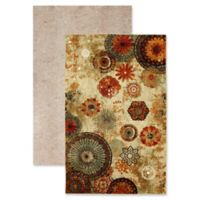 Mohawk Home® Strata Caravan Medallion 5' x 8' Multicolor Area Rug with Rug Pad