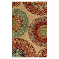 Mohawk Home Strata Lacey Medallions 5' x 8' Rug in Rainbow