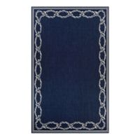 Couristan® Rope Knot 2' x 3'7 Accent Rug in Indigo/Ivory