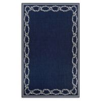 Couristan® Rope Knot 7'6 x 10'9 Area Rug in Indigo/Ivory