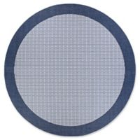Couristan® Checkered Field 8'6 Round Rug in Natural/Cocoa