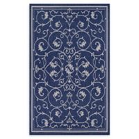 Couristan Recife Veranda 2 'x 3'7 Indoor/Outdoor Accent Rug in Indigo/Ivory
