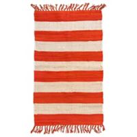 AM Home Cabana Striped 5' x 7' Area Rug in Orange
