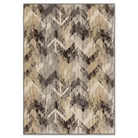 Orian Rugs Wild Weave Distressed Chevron 5'3 x 7'6 Area Rug in Grey