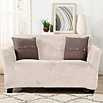 Great Bay Home Gale Strapless Loveseat Slipcover in Cappuccino