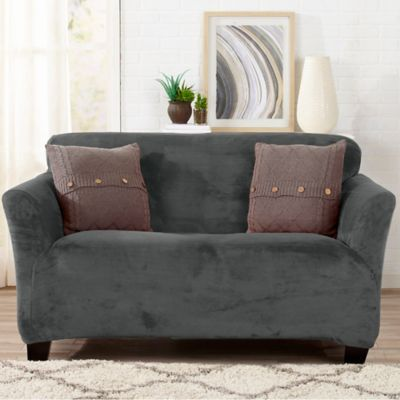 seat amazon soft micro suede under cover loveseat dp chezmoi collection home sand slipcovers with group com living kitchen band elastic slipcover cushion green