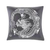 N Natori® Sterling Dragon Sateen Euro Square Sham in Grey