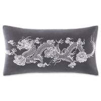 N Natori® Sterling Dragon Oblong Throw Pillow in Grey