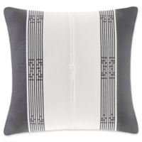 N Natori® Sterling Dragon Sateen Square Throw Pillow in White/Grey