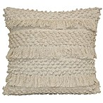 Shimmy Square Throw Pillow in Natural