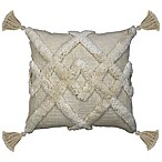 Duplex Tufted Square Indoor Throw Pillow in Cream