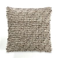 Avalon Square Throw Pillow in Brown/Cream