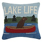 Lake Life Square Indoor Throw Pillow in Blue
