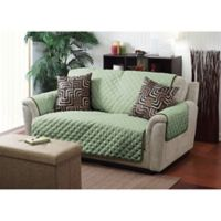Home Details Reversible Sofa Cover in Sage/Olive