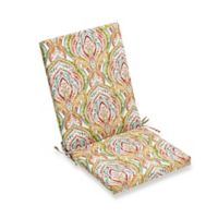 Print Indoor/Outdoor Folding Seat Cushion in Red Multi
