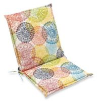 Print Indoor/Outdoor Folding Sling Chair Cushion in Doiley Multi