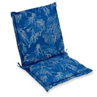 Print Indoor/Outdoor Folding Sling Chair Cushion in Cobalt Sea Coral
