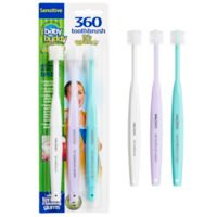 Baby Buddy 3-Pack Expectant Moms 360-Degree Toothbrush in White/Aqua