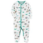 carter's® Size 3M Safari Snap-Up Footie Pajama