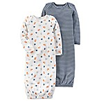 carter's® Size 3M 2-Pack Sleeper Gowns in White