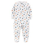 carter's® Size 6M Truck Zip-Up Footie Pajama