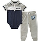 Tommy Hilfiger® Size 3-6M 2-Piece Polo Bodysuit and Jogger Pant Set in White/Grey