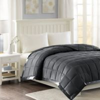 Madison Park Windom 3M Scotchgard Down Alternative Full/Queen Blanket in Charcoal