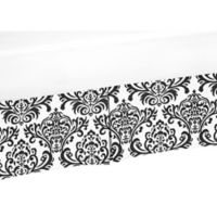 Sweet Jojo Designs Isabella Crib Skirt in Black/White