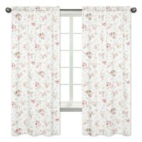 Sweet Jojo Designs Riley's Roses Window Panel Pair