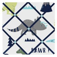 Sweet Jojo Designs Mod Dinosaur Memo Board in Turquoise/Navy