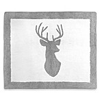 Sweet Jojo Designs Stag 30-Inch x 36-Inch Accent Floor Rug in Grey/White