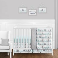 Sweet Jojo Designs Mountains 11-Piece Crib Bedding Set in Grey/Aqua