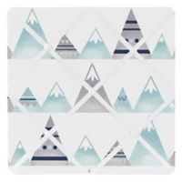Sweet Jojo Designs Mountains Memo Board in Grey/Aqua