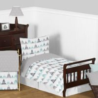 Sweet Jojo Designs Mountains 5-Piece Toddler Bedding Set Grey/Aqua