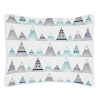 Sweet Jojo Designs Mountains Reversible Standard Pillow Sham