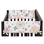 Sweet Jojo Designs Watercolor Floral Reversible Short Rail Guards (Set of 2)