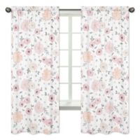 Sweet Jojo Designs Watercolor Floral 84-Inch Window Panels (Set of 2)