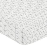 Sweet Jojo Designs Mod Jungle Triangle Print Fitted Crib Sheet