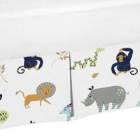 Sweet Jojo Designs Mod Jungle Safari Animal Print Crib Skirt