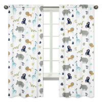 Sweet Jojo Designs Mod Jungle Safari Animal Print 84-Inch Window Panels (Set of 2)