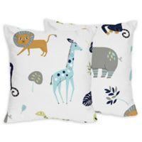 Sweet Jojo Designs Mod Jungle Throw Pillows (Set of 2)
