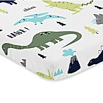 Sweet Jojo Designs Mod Dinosaur Fitted Mini-Crib Sheet
