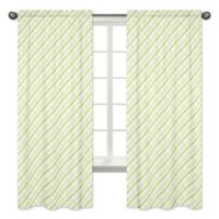 Sweet Jojo Designs Plaid Print 84-Inch Window Panels in Green (Set of 2)
