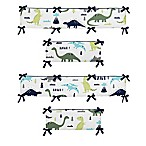 Sweet Jojo Designs Mod Dinosaur Reversible 4-Piece Crib Bumper Set