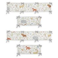 Sweet Jojo Designs Woodland Toile 4-Piece Crib Bumper Set