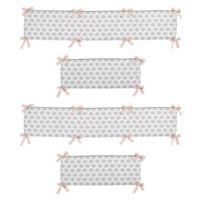 Sweet Jojo Designs Aztec 4-Piece Crib Bumper Set in Pink/Grey