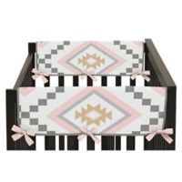 Sweet Jojo Designs Aztec Short Rail Guards in Pink/Gold (Set of 2)