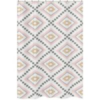 Sweet Jojo Designs Aztec Shower Curtain In Pink Grey