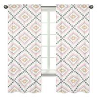 Sweet Jojo Designs Aztec 84-Inch Window Panels in Pink/Gold (Set of 2)